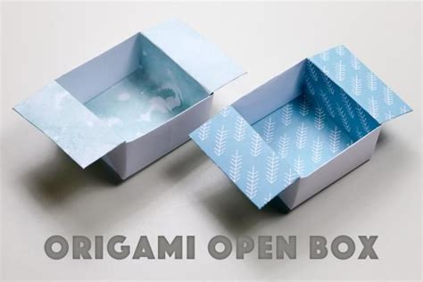 How To Make Origami Paper Box - origami open box easy easy origami