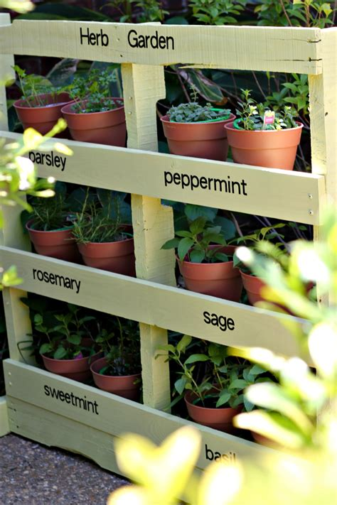 how to build an herb garden make an herb garden from a pallet pinkwhen