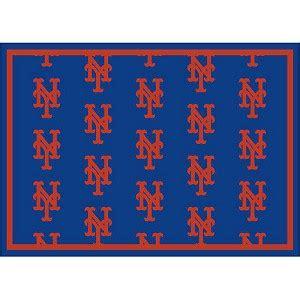 Logo Area Rugs New York Mets Repeat Logo Area Rug