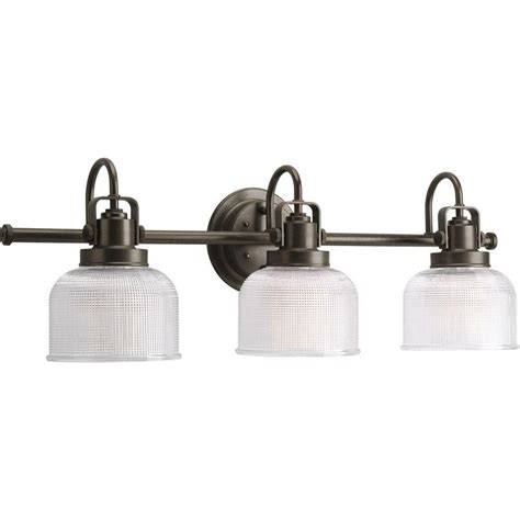 Bronze Vanity Light Fixture Progress Lighting Archie Collection Venetian Bronze 3 Light Vanity Fixture The Home Depot Canada