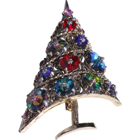 weiss sugar plum christmas tree pin from heartofgems on