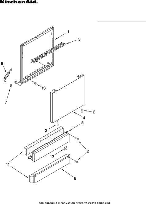 kitchenaid drawer dishwasher parts kitchenaid whisper quiet plus dishwasher manual