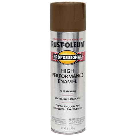 rust oleum 174 professional flat brown high performance enamel spray 15 oz at menards 174