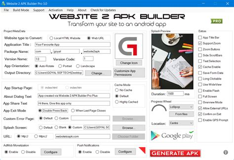 web to apk website 2 apk builder pro website 2 apk builder pro transform your html5 site to an android