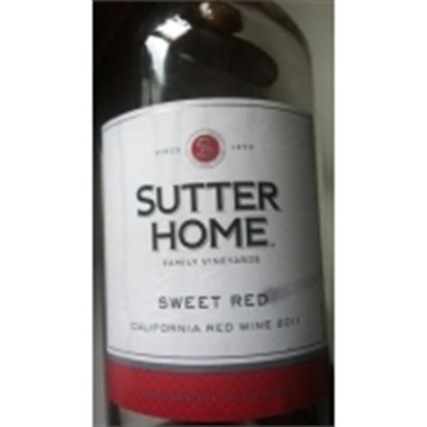 sutter home sweet wine calories nutrition analysis