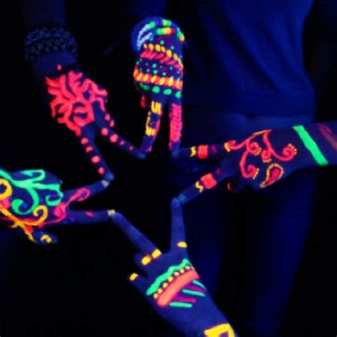 glow in the paint tips 148 best images about neon works of on