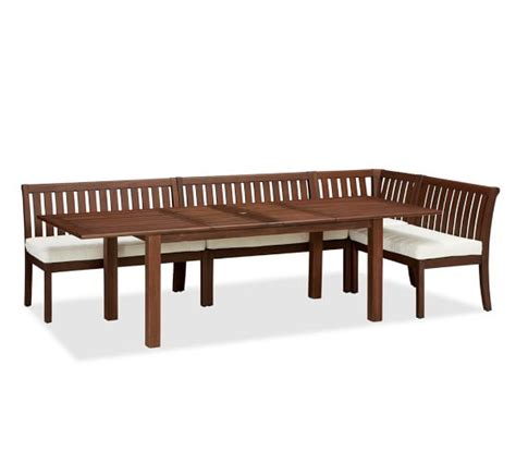 Table Banquette by Chatham Rectangular Extending Dining Table Banquette Set