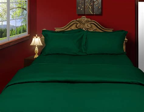 forest green bedding buy just linen pair of cotton 200 tc percale solid forest