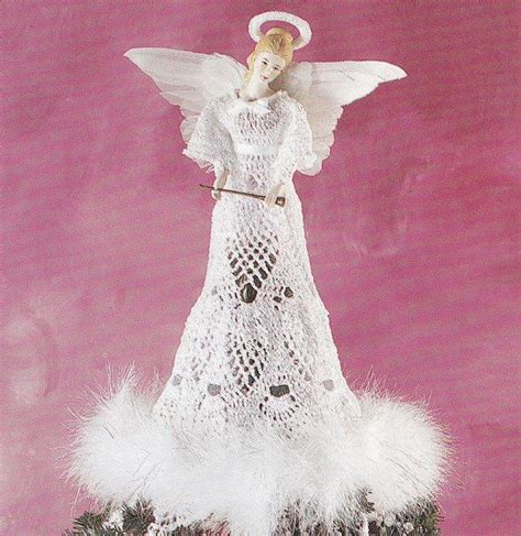 crochet pattern christmas tree topper 17 best images about crocheted angels on pinterest