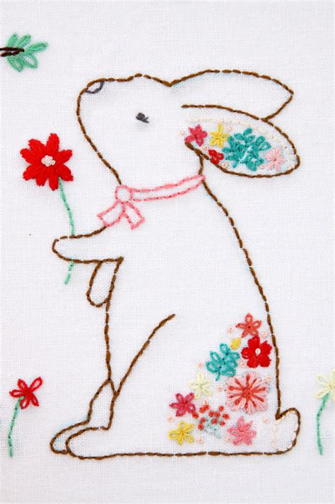 embroidery design rabbit harriet and rosie new floral embroidery patterns