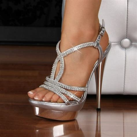 pretty high heel shoes pictures shoes heels prom sparkle high heels wheretoget