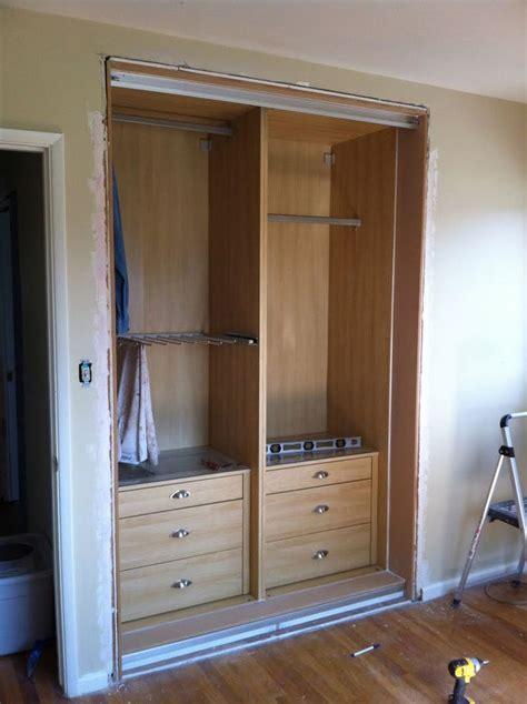 ikea closet doors ikea hackers retrofitting a pax into a closet studio apartment ideas ikea pax closet ikea