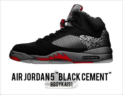 The Quot Art Quot Of air jordan 5 quot black cement quot by bboykai91 on deviantart