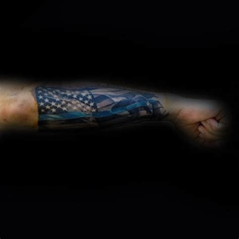 100 tattered american flag tattoo designs thin blue