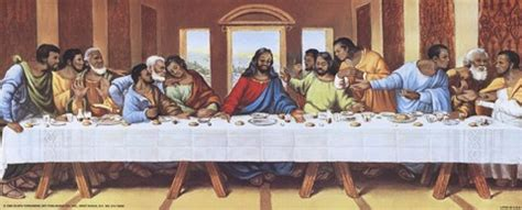 Mirrors Dining Room Black Last Supper Fine Art Print By Tobey At
