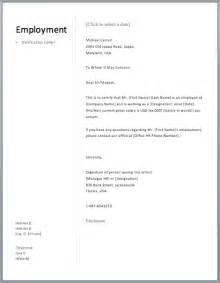 Proof Of Employment Letter Template by Proof Of Employment Letter Free Sle Letters
