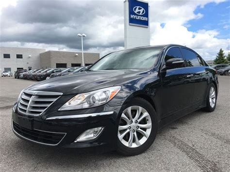 2013 genesis sedan 2013 hyundai genesis sedan 3 8 black clarington hyundai