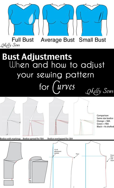 pattern drafting large bust how to do a bust adjustment melly sews