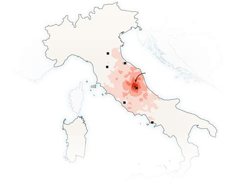 italy earthquake map italian towns before and after the earthquake the new