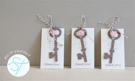 How To Make A Paper Key - learn how to diy plantable wedding favors