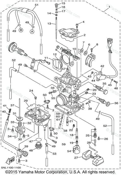 yamaha motorcycle  oem parts diagram  carburetor partzillacom
