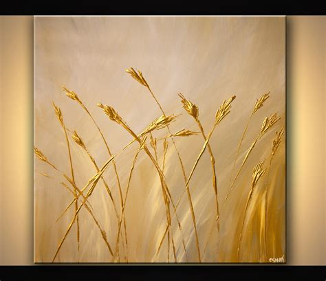 acrylic painting gold prints painting gold textured abstract painting 6804