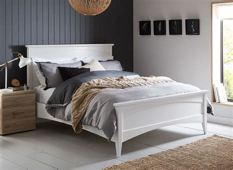white double bed headboard miller white wooden bed frame dreams