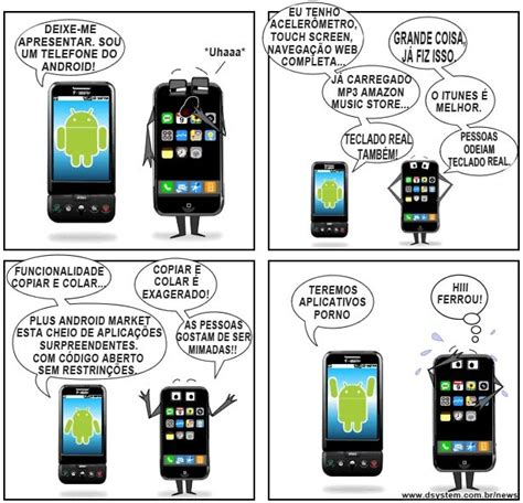 android versus iphone humor android vs iphone n 227 o acredito