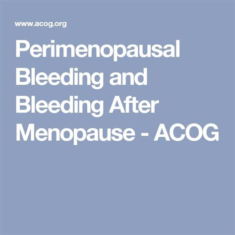 20 best images about menopause spotting after menopause normal