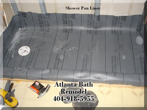 shower pan liner installation options bathroom