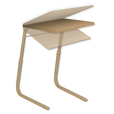 table mate adjustable table buy table mate 174 adjustable table in mocha from bed bath