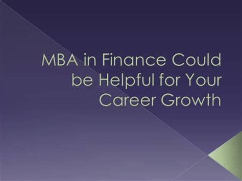 Mba Career Change Finance by Mba In Finance Could Be Helpful For Your Career Growth