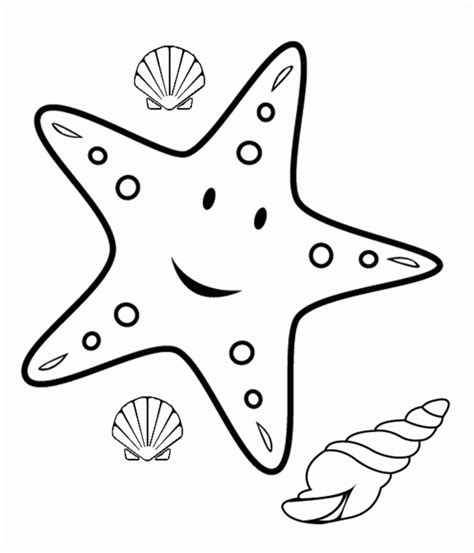 starfish coloring pages for kids az coloring pages