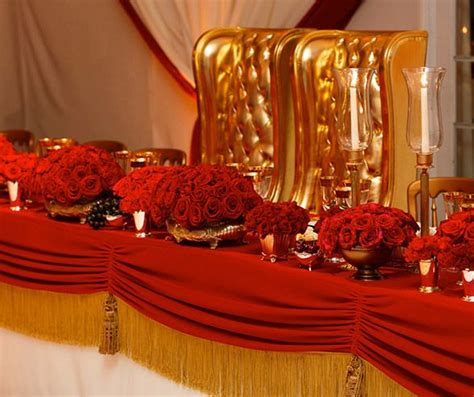 the and groom were treated like royalty as they sat on thrones at the table color