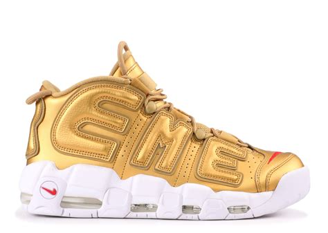 air supreme supreme x air more uptempo sup white gold ua yeezy boost