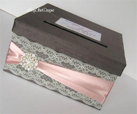 Handmade Wedding Card Box - wedding card box custom envelope card holder lace blush