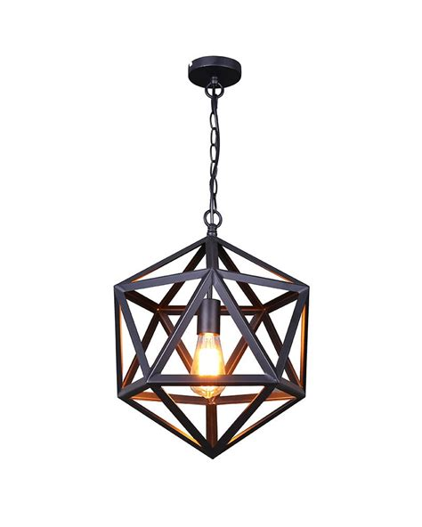 Black Iron Pendant Light Add Some Retro Flavor To Your Home With This Industrial Style Matte Black Iron Cage Pendant