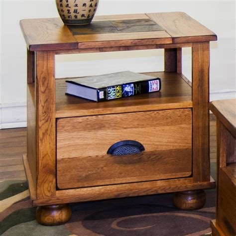 designs sedona end tables designs sedona end table w drawer and slate top