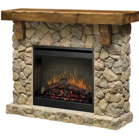 rustic stone fireplaces dimplex fieldstone 55 inch electric fireplace stone