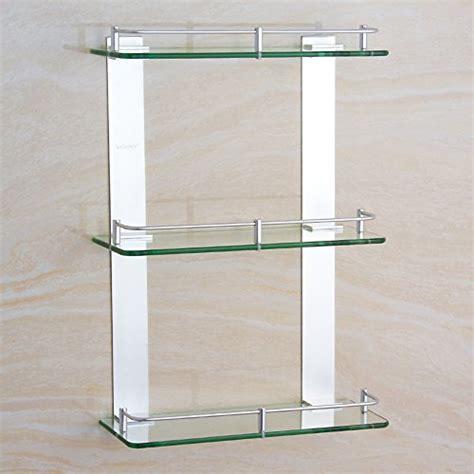 glas wand badezimmer regale badezimmer racks g 252 nstig kaufen bei
