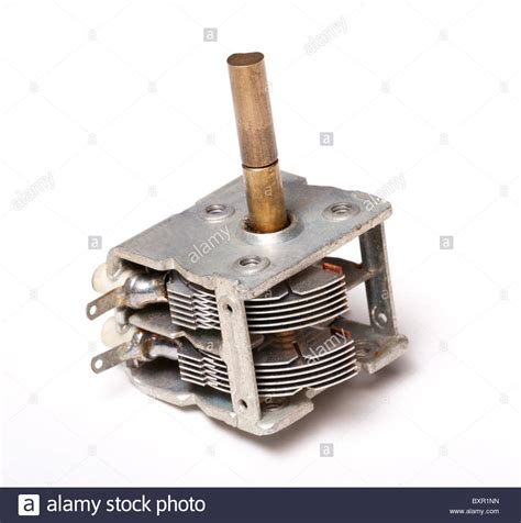 capacitor variable radio variable capacitors for radio tuning stock photo royalty free image 33697713 alamy