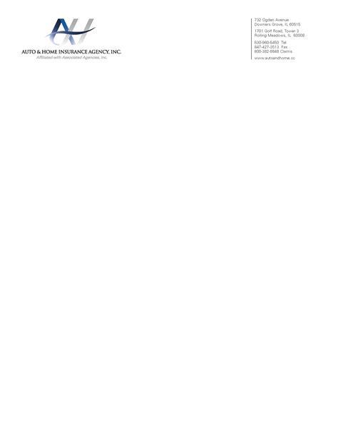 Car Insurance Letterhead Auto Home Corporate Letterhead Printing And Design