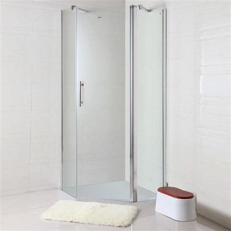 30 X 36 Shower Stall 36 X 36 In 90 X 90 Cm Clear Tempered Glass Corner