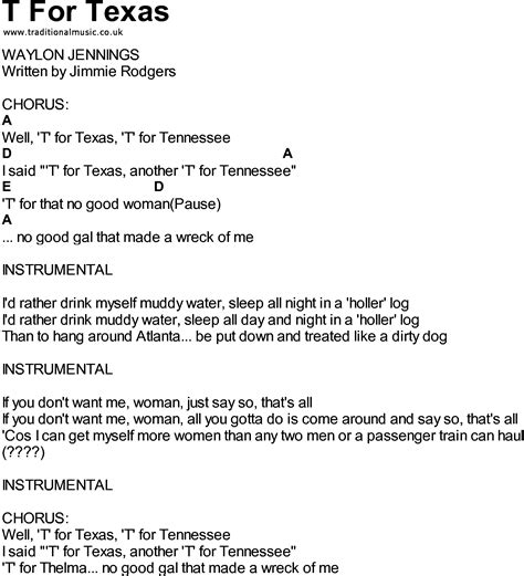 song t bluegrass songs with chords t for texas