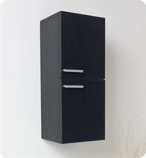 Black Bathroom Storage Cabinet 12 5 Quot Fresca Fst8091bw Black Bathroom Linen Side Cabinet W 2 Storage Areas Side Cabinets