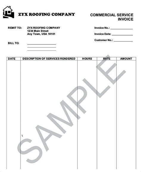 roofing invoice templates how to plan roofing invoice templates