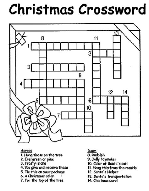 best christmas puzzles and answers crossword coloring page crayola