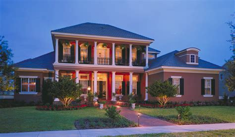 southern luxury house plans southern colonial with two story balcony 83382cl 1st
