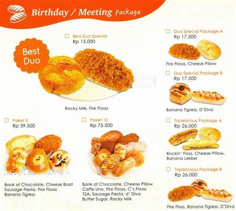 harga menu kue breadtalk delivery terbaru