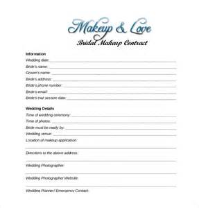 wedding contract templates bridal makeup contract pdf makeup vidalondon